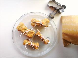 Baking some Peanut Butter + Banana Dog Treats!