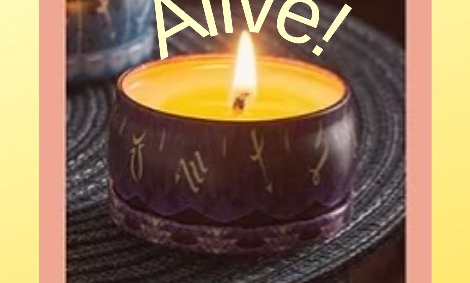 Custom Blend--Alive! Aromatherapy Scented Candle