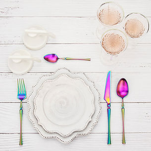 rainbow cutlery set