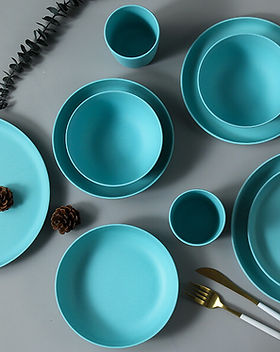 bamboo fiber plates blue