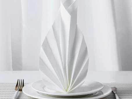 The feeling of different color airlaid napkin