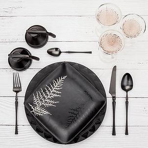 18/10 stainless steel flatware black