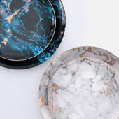 Marble ceramic plate
