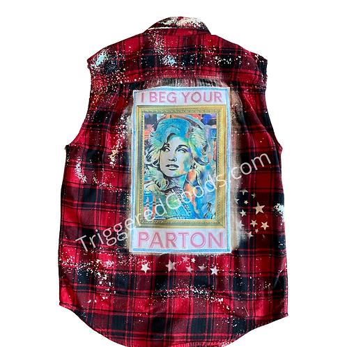 I BEG YOUR PARTON-Flannel Vest