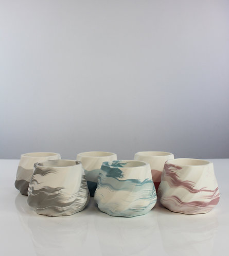 Jesmonite pot by The Jot Studio