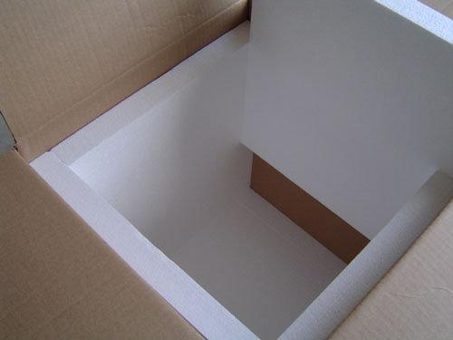 Polystyrene box lining