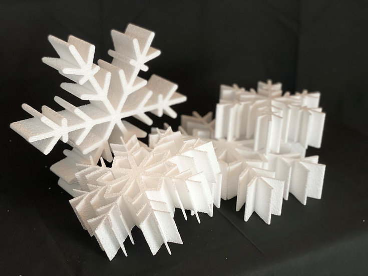 Polystyrene SnowFlake 180mm (5)