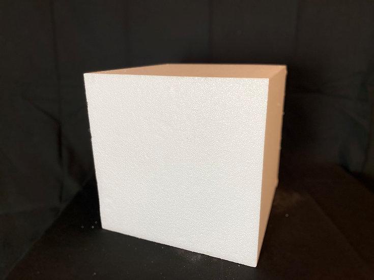 Polystyrene cube