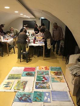 Nan Platvoet, Workshop Handdrukken maken in de stijl van Nan Platvoet, Musea Zutphen