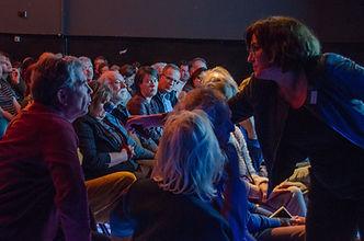 Tine Zevenhuizen, moderator, KOP-festival 2018, Foto Martijn Harleman Bytegraag