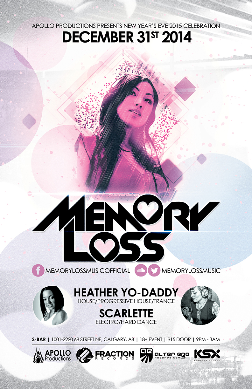 NYE - Memory Loss - Calgary