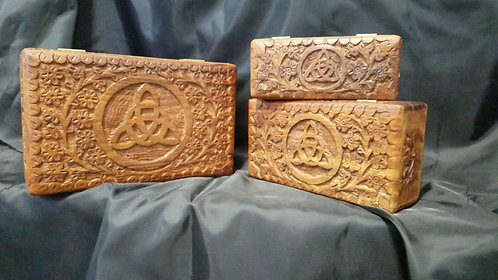 Celtic Knot Triquetra Box set of 3