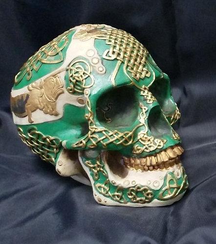 Celtic Knot Skull Bank