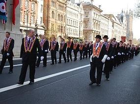 Medway Martyrs Brethren on parade