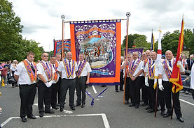Medway Martyrs Banner with brethren
