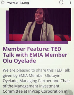 TED Talk EMIA Member