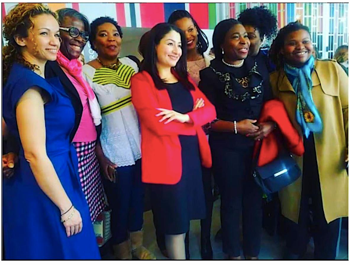 Dr. Olu with The Hon Maryam Monsef: Minister of international Development & Women Affairs Canada