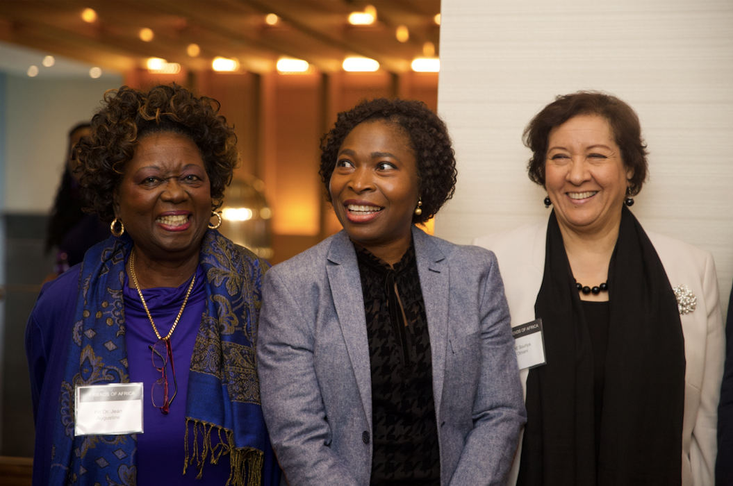 Dr Olu With H.E Souriya Otmani-Ambassador of morocco in Canada, & The Hon. Dr. Jean Augustine, Queen's Privy Council, 1st Black Member of Parliament/Cabinet Minister in Canada