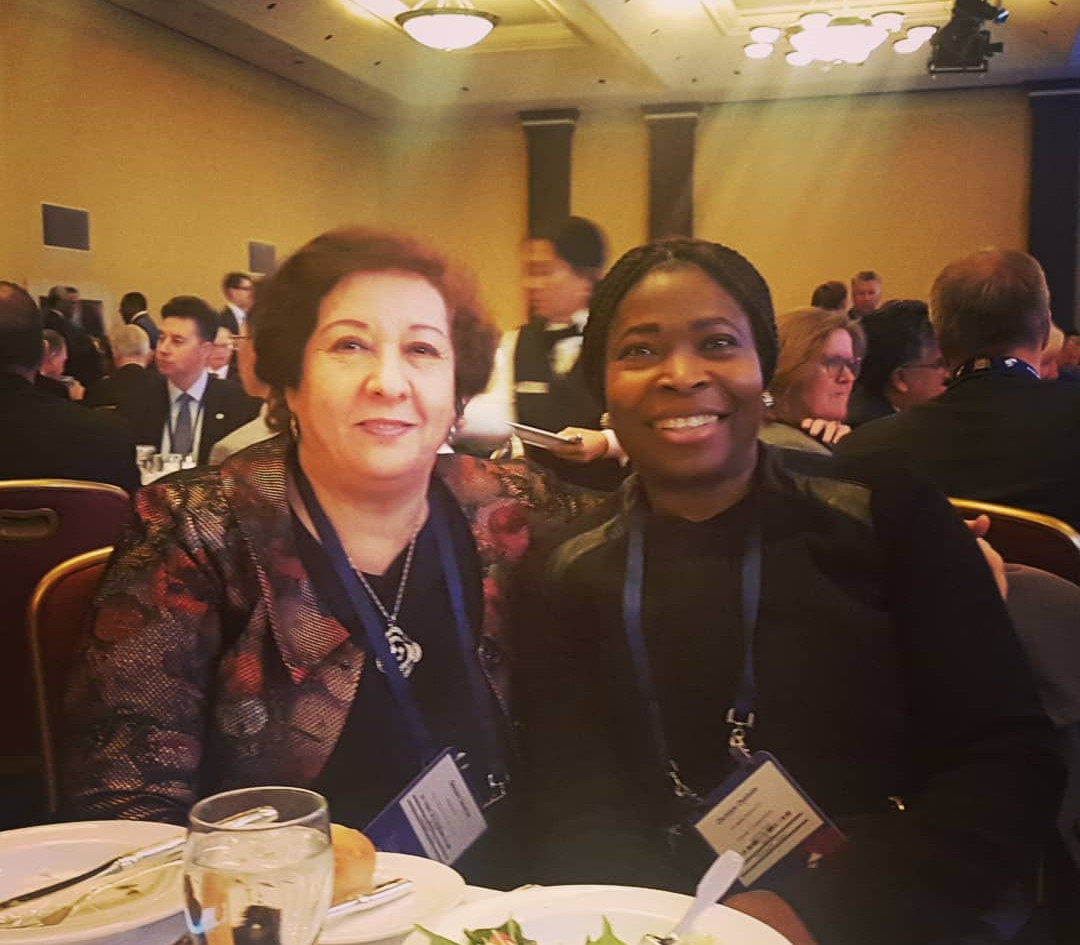 Dr Olu with H.E Souriya Otmani -The Ambsaador of Morroco