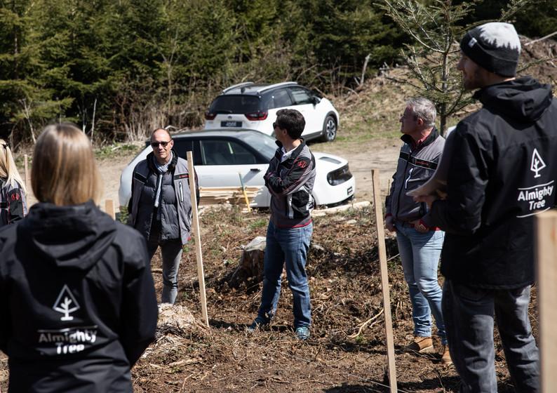 Plantation briefing équipe Honda Almight