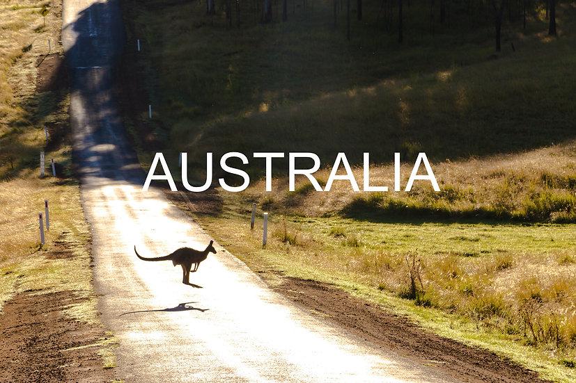 Carte-cadeau avec un arbre en Australie