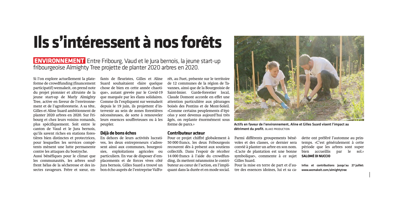 Article dans Le Journal du Jura, par Salomé Di Nuccio