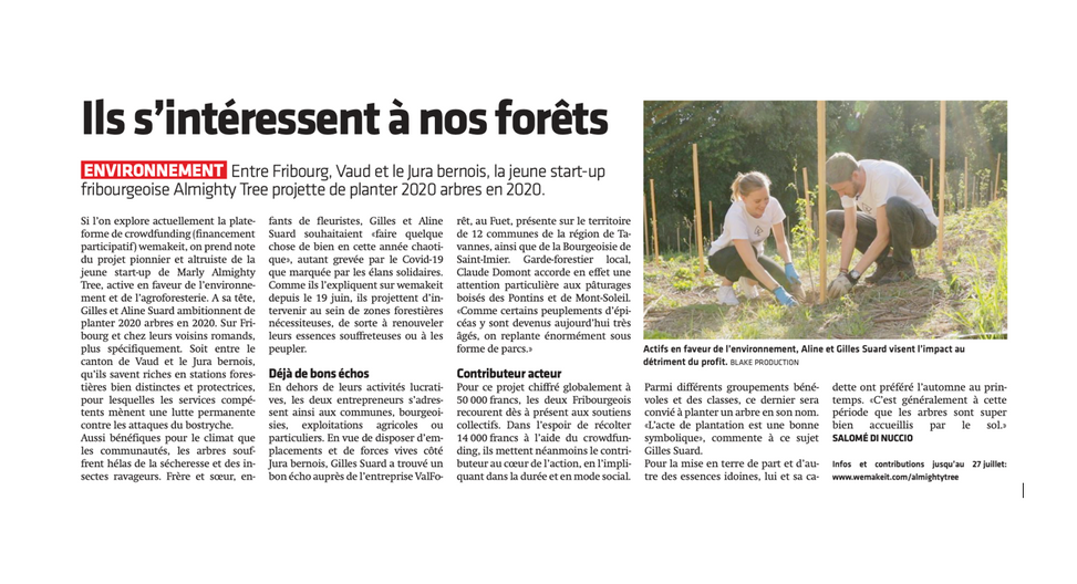Article dans Le Journal du Jura, par Salomé Di Nuccio