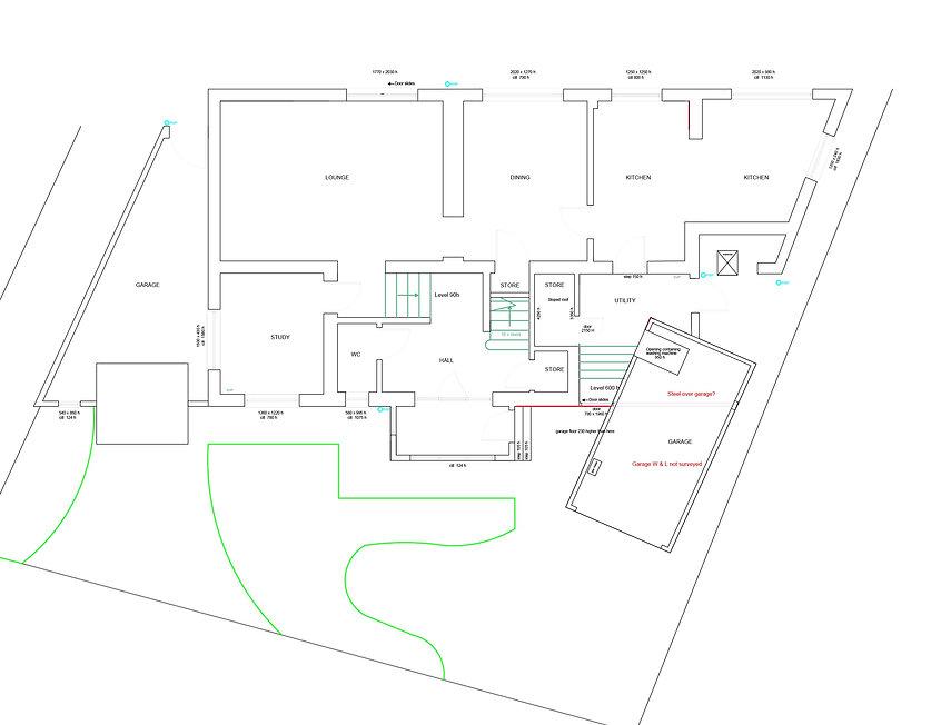 6 Ashdown Road - Existing ground floor p