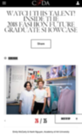 Fashion Future Graduate Showcase 2018