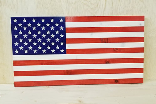 Wooden American Flag #32