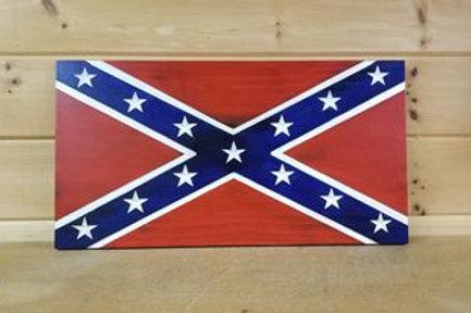 Wooden Confederate  Flag #28