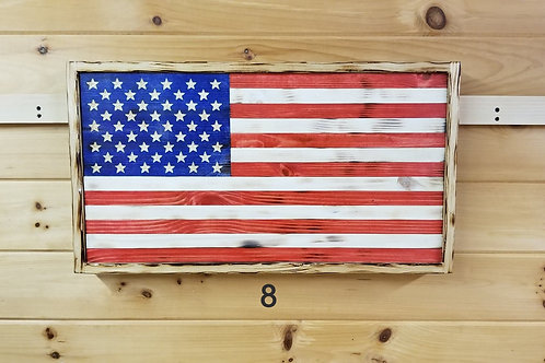 Hand carved Wooden American Flag #8