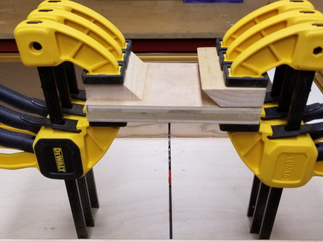 Making a simple strap clamp holder.