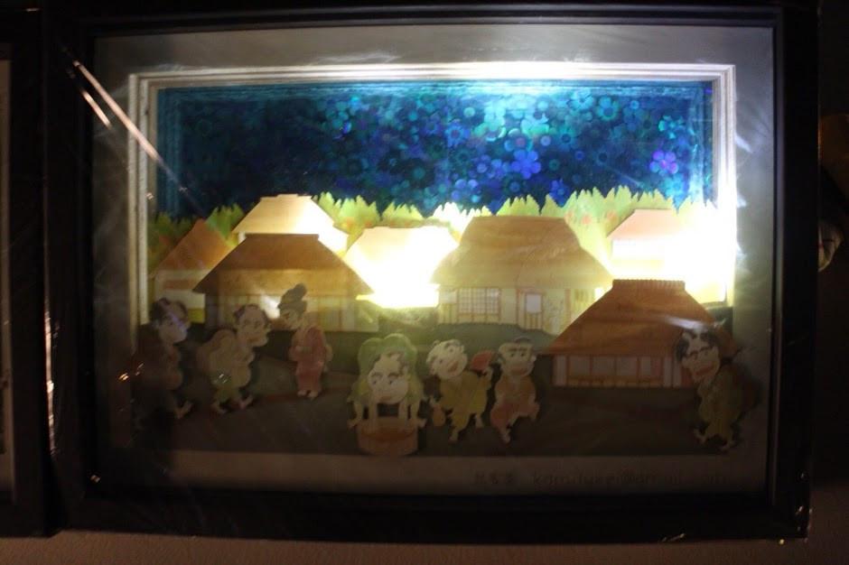 現存する世田谷昔風景 立体組上絵