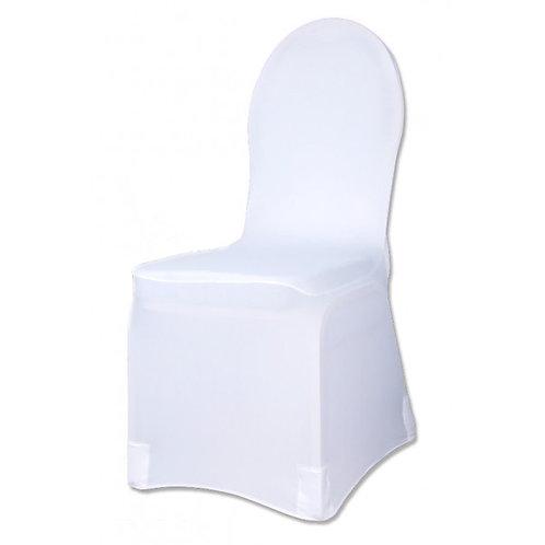 housse de chaise blanche en lycra