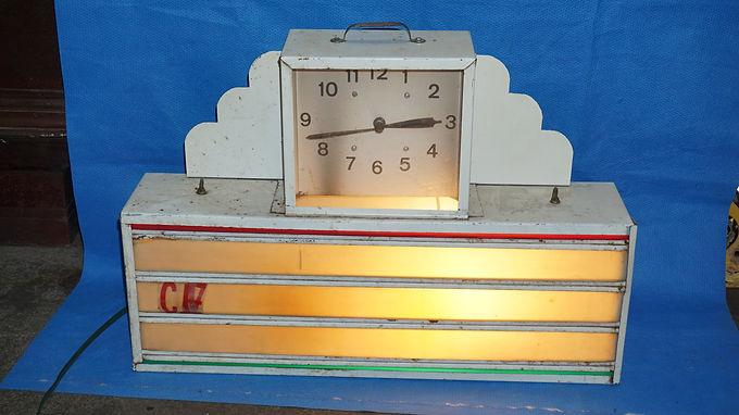 Art Deco Advertising Clock