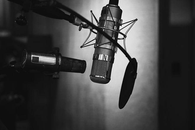 Microfone profissional com filtro pop