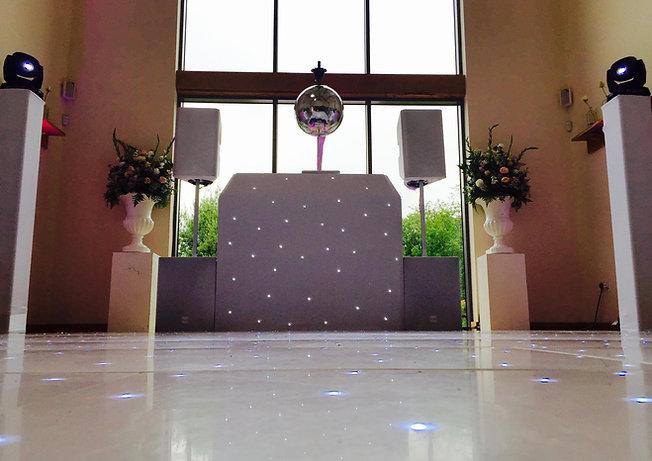 White evening wedding DJ service
