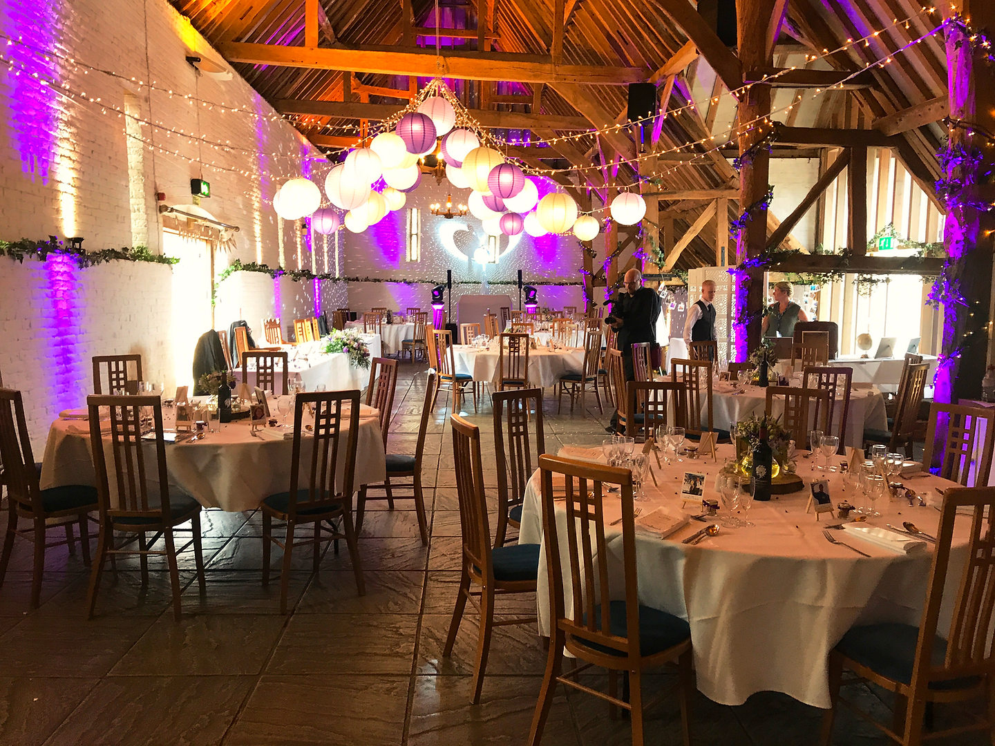 Up lighting at Ufton Court