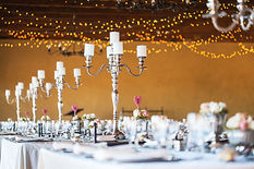Wedding reception hall with decor includ