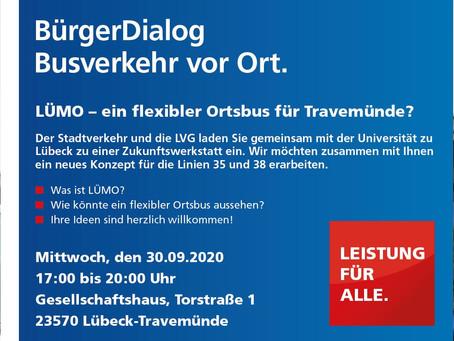 Ein flexibler Ortsbus für Travemünde? BürgerDialog in Travemünde am 30.09.2020