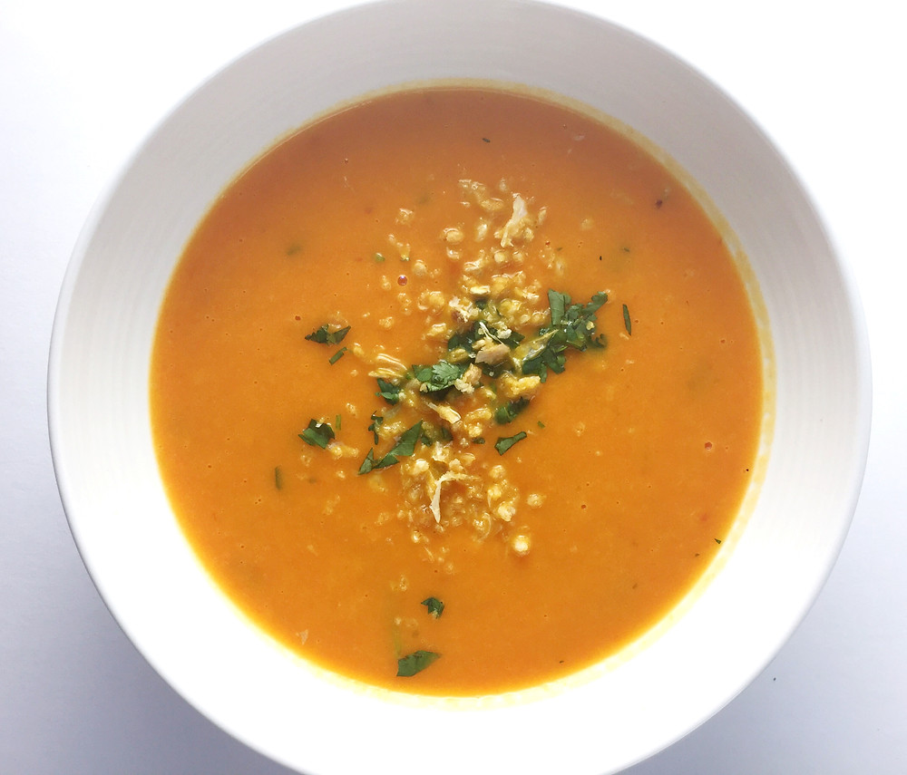 carrot lime soup