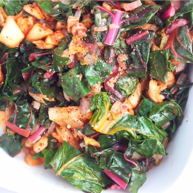 swiss chard & kimchi