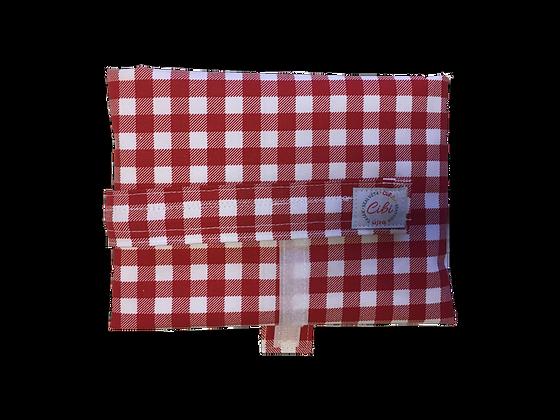 ÉLELMISZERBIZTOS ÚJRASZALVÉTA - Kockás piros XL