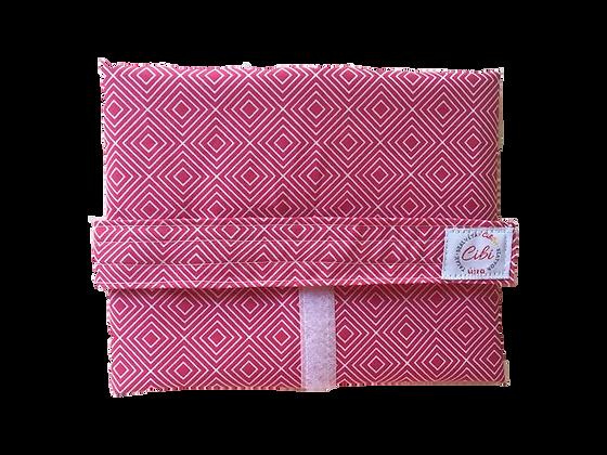 ÉLELMISZERBIZTOS ÚJRASZALVÉTA - Négyzetek Pink XL
