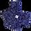 Thumbnail: ÉLELMISZERBIZTOS SZETT - Kékfestő tulipán asztali szalvétával
