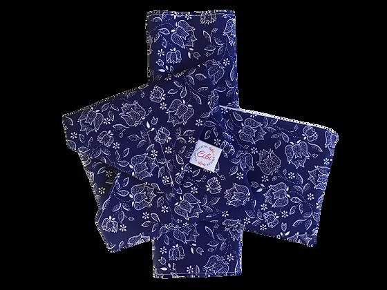 ÉLELMISZERBIZTOS SZETT - Kékfestő tulipán asztali szalvétával