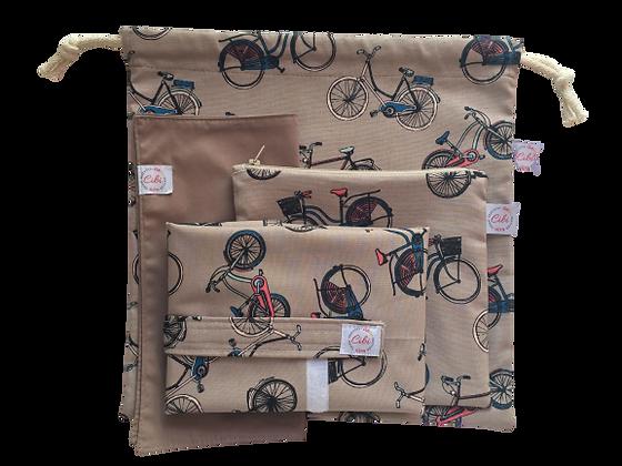ÉLELMISZERBIZTOS SZETT - Kerékpár asztali szalvétával és zsákkal XL