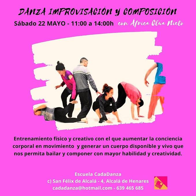 Taller de danza improvisación con África Clúa en Alcalá de Henares
