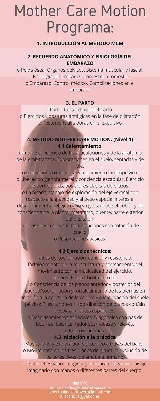 Formación en Mother Care Motion (nivel 1)